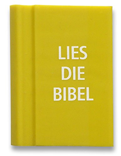 °°2052 Radiergummi GELB 'Bibel' in Buchform, 3 x 4 cm,