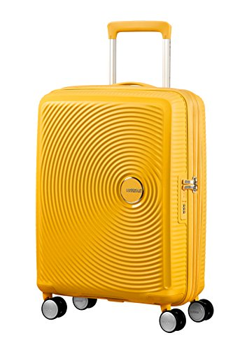 American Tourister Soundbox Spinner Bagaglio a Mano 55 Cm, 41 L, Giallo (Golden Yellow)