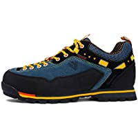 ERR Zapatos al Aire Libre para Hombre/Zapatos para Caminar/Zapatos para Caminar de Cuero/Zapatos Deportivos Ocasionales a Prueba de Agua,Lago Azul,39