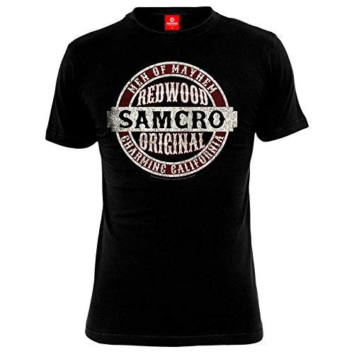 Sons Of Anarchy Samcro Original Camiseta Negro M