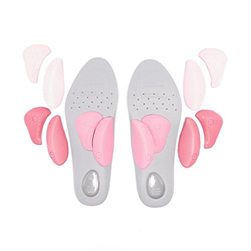 ORTHOSOLE Plantillas de estilo fino para mujer Pink, Gris, 35