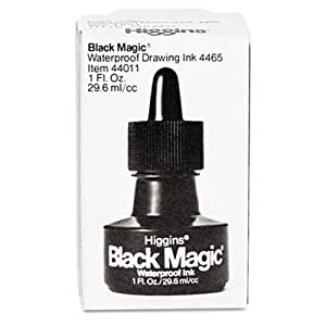 Higgins Higgins Black Magic -tanche encre noire 1 oz