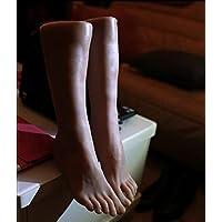 Zplmodel Pie De Silicona Maniquí,1 Par Silicona De Tamaño Natural Hombres Maniquí Pie Zapatos Calcetín Monitor Modelo Art Bosquejo
