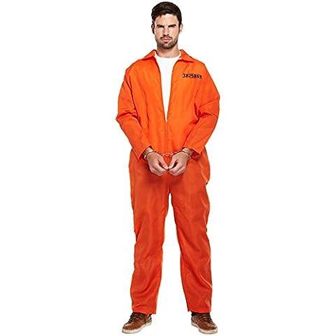 Costumes Orange Jumpsuit - Classic Orange Prisoner Overall Jumpsuit Boiler Suit
