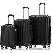 TSA-Schloß 2080 Hangepäck Zwillingsrollen neu Reisekoffer Koffer Trolley Hartschale Set-XL-L-M