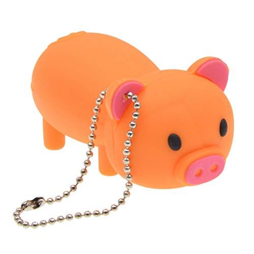 FbscTech USB-Speicherstick in Schweine-Form (USB 2.0) Orange 64 GB