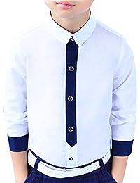 Zhuhaitf Mode Spring Cotton Folding Collar Long sleeve Boy's Shirt Clothes for Kids