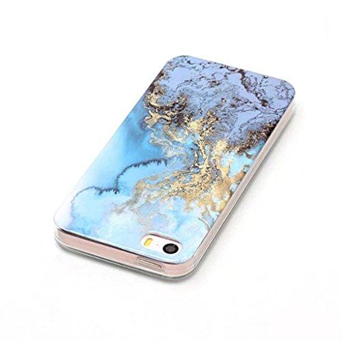 HUANGTAOLI Custodia in Silicone TPU Case Cover per Apple iPhone 5 5S SE C10