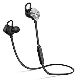 Mpow Auricolari Wireless IPX7 Bluetooth 4.1 Stereo, Cuffie Stereo con Microfono, per iPhone, Samsung, LG, Sony, Xiaomi, Huawei ed Altri Smartphone - Argento