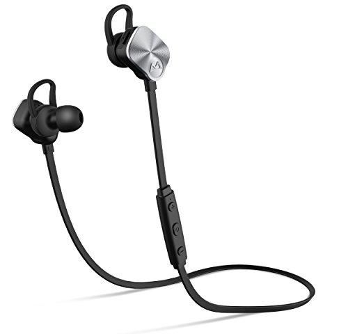 Mpow Auricolari Wireless Stereo IPX7, Cuffie Bluetooth Sport con Microfono in Uso con 8 Ore, per iPhone, Samsung, LG, Sony, Xiaomi, Huawei ed Altri Smartphone - Argento