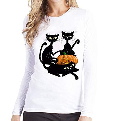 Hoodie Langarm Pullover Mantel Tops,Frauen Plus Größen-Drucken-T-Stück-Hemd-Lange Hülsen-T-Shirt Bluse