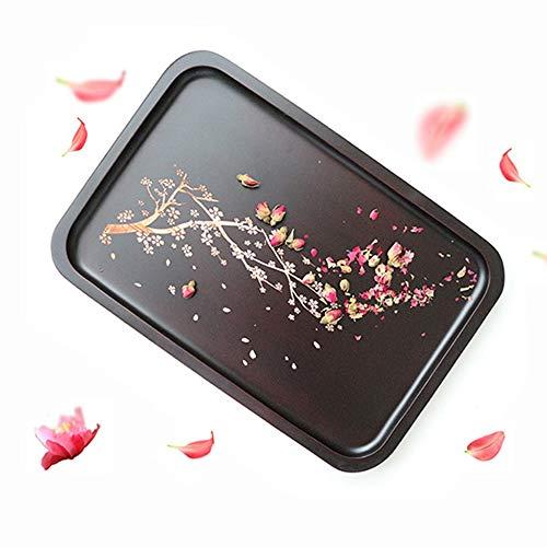 Beautiful home - tray Holz Kirsche Muster Tablett Haushalt Lagerung Palette-34 * 23cm -