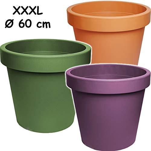 alles-meine.de GmbH 5 Stück _ Design - XXXL - große Blumentöpfe / Pflanzkübel / Pflanzschale - Ø 60 cm - 100 Liter - bunter Farb-Mix - rund - Gross - Kunststoffkübel - Übertopf P..