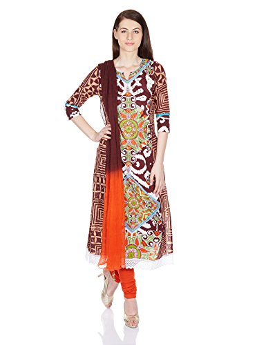 Rain and Rainbow Women's Anarkali Salwar Suit (SKD-5096-AW/17-02_Multicolor_L)