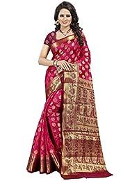 Dealsure Women's Banarasi Pure Art Silk Saree With Blouse Piece (DS-S8421-05_Multi-Colored)