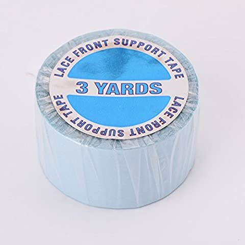 Walker Tape Blue Lace Double Sided Tape Roll 1 x 3 yards for Toupees & Wigs by Walker Tape