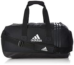 Idea Regalo - Adidas Tiro Teambag B46128 Borsone - Misura S, Colore Nero/Grigio/Bianco