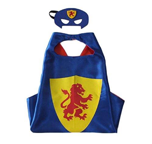 Ducomi® Superhelden-Kostüm mit Kapuze und Umhang - Unisex und Kinder 3 bis 10 Jahre (Knight (Kostüme E Beginnend Mit)