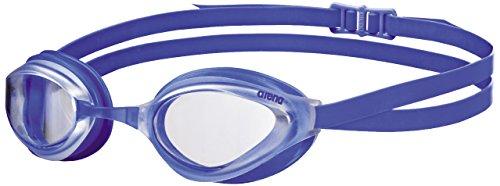 arena Unisex Training Wettkampf Schwimmbrille Python (UV-Schutz, Anti-Fog Beschichtung, Harte Gläser), Clear-Blue (10), One Size