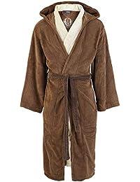 Star Wars, Jedi, accappatoio marrone e beige, Pile, Jedi Knight - Classic, One Size - Adults