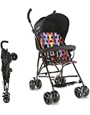 LuvLap Tutti Frutti Stroller/Buggy, Compact & Travel Friendly, for Baby/Kids, 6-36 Months (Printed Black)