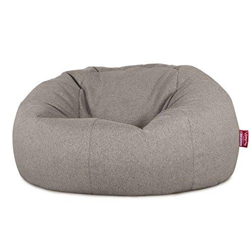 Lounge Pug®, Puff GiganteSofá Clásica, Lana de Interalli - Plata