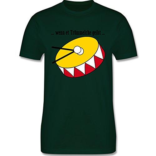 Karneval & Fasching - wenn et Trömmelche geiht - Herren Premium T-Shirt Dunkelgrün