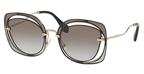 Miu Miu Damen 0MU54SS 1AB0A7 64 Sonnenbrille, Schwarz (Black/Grey)