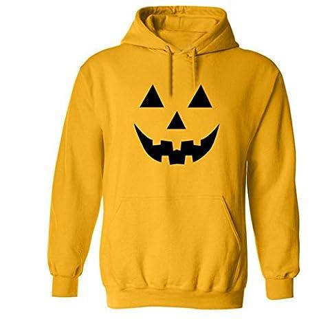 SANFASHION Halloween Männer Langarm Druck Letter Hoodie Kapuzen Sweatshirt Tops Jacken Mantel (M, Gelb)
