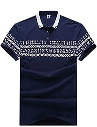 Polo para Hombre Camiseta / camisa deportiva con manga corta con cuello de polo XXL/3XL/4XL/5XL/6XL/7XL Azul zafiro