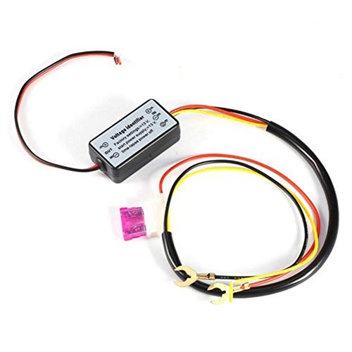 Cont Panel (DRL Controller 12-18 V Auto Auto LED Tagfahrlicht Controller Relais Kabelbaum Dimmer EIN/Aus Nebelscheinwerfer Controller Automatische LED Lampenschalter für Auto Autozubehör)