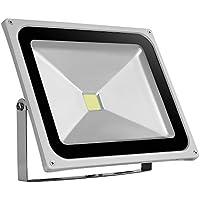 Awhao® Foco Reflector LED 10W 20W 30W 50W 100W 150W 200W 300W Foco Proyector LED Iluminación de exterior Luz de Inundación Blanco frío (50W)