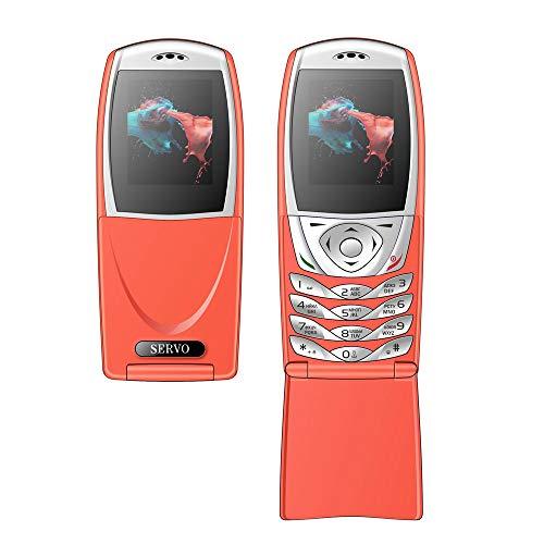 Altsommer Seniorenhandys,1,77 Zoll Bildschirm Klapphandy mit Dual-SIM,Großen Tasten,Bluetooth,FM Radio, Notruf-Knopf und Taschenlampe Mobiltelefon,5Sprachen Einfaches Handy,Orange (Orange)