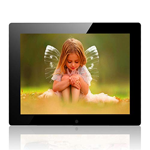 tal Photo Frame High Resolution Full IPS Display Photo/Music/Video Player Kalender Alarm Auto On/Off Timer, Support USB und SD Card, Fernbedienung ()