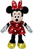 TY 41071 - Disney - Minnie Glitter mit Sound, rotes glitzerndes Kleid und Schleife, 20 cm