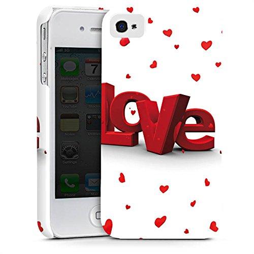Apple iPhone X Silikon Hülle Case Schutzhülle Love 3D Look Muster Herzchen Premium Case glänzend