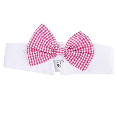 GGG British Style Adjustable Pet Gentle Beautiful Neck Bow Tie Necktie Collar Dog Cat Accessories Grooming Pink