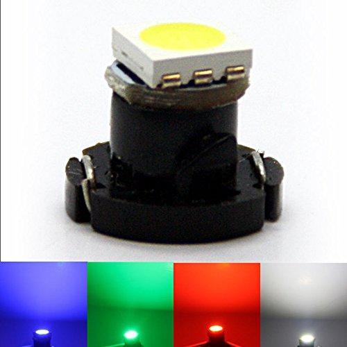 Preisvergleich Produktbild LED-Mafia Sockel T4, 2 PLCC2 weiß rot blau grün Tachobeleuchtung Instrumentenbeleuchtung Tacho Xenon T4, 2 T4.2 (blau)