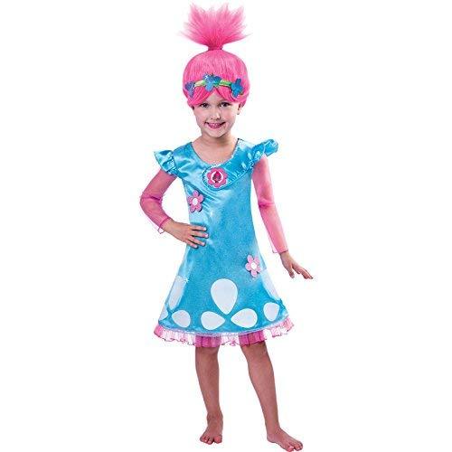 Trolls Poppy Kostüm Kinder Mädchen - Troll Mädchen Kostüm