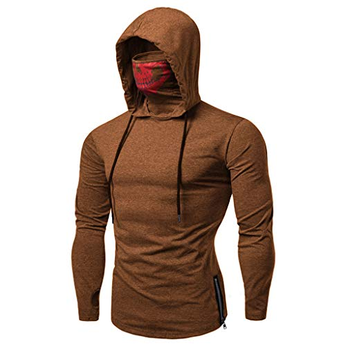 SANFASHION Männer Sweatshirt Langarm Herbst Winter Herren Kapuzenpullover | Sale | Casual Sweatshirt Hoodies Top Bluse Trainingsanzüge -