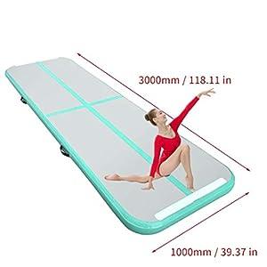 300x100x10cmair tracking matte aufblasbare gymnastik airtrack mit für Praxis Gymnastik, Cheerleading, Tumbling, Parkour und Kampfkünste(Bitte wählen Sie, ob oder nicht Elektrische Luftpumpe)