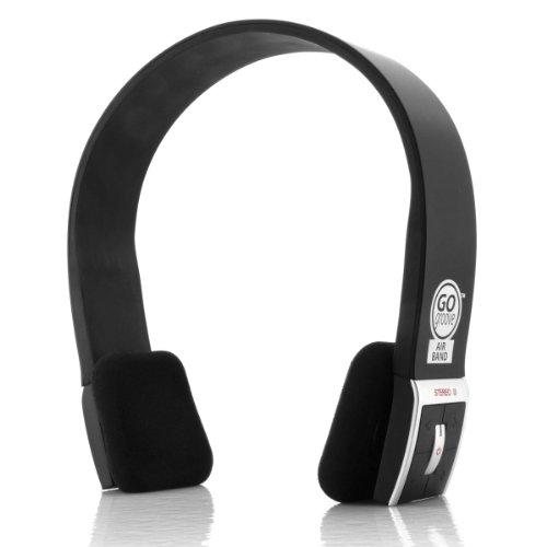 Bluetooth Kopfhörer mit Mikrofon, am Kopfhörer integrierte Steuerung und eingebautem Akku von GOgroove für Apple iPhone 6s Plus, Motorola Moto G (3. Generation), Samsung Galaxy A8, AirBand (Schwarz) (8gb Apple Generation Ipod 3.)