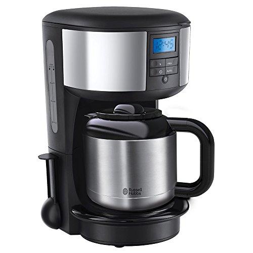 Russell Hobbs 20670-56 Digitale Thermo-Kaffeemaschine Chester, 1.1l, Brausekopf-Technologie, programmierbarer Timer, 1000 Watt, Edelstahl/schwarz
