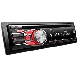 JVC KD-R331E Autoradio CD/mp3/WMA 1-DIN avec deux entrées AUX 4 x 50 W