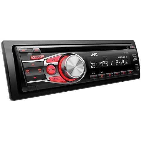 JVC KD-R331E - Radio para coches de 200 W (con reproductor de CD, adaptador Bluetooth y doble AUX-IN),