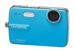 """Olympus µ 550 WP Appareil photo compact numérique 10 Mpix Zoom optique 3x Ecran LCD 2,5"""" Etanche 3m Bleu cristal"""