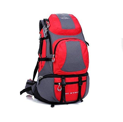 Wmshpeds 45L Borsa a tracolla grande capacità impermeabile zaino alpinismo uomini & donne all'aperto borsa a tracolla G