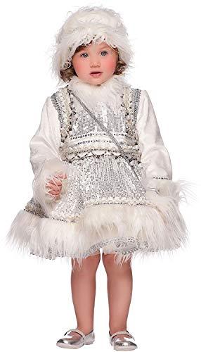 Costume di carnevale da eschimese neonata vestito per neonata bambina 0-3 anni travestimento veneziano halloween cosplay festa party 50693 taglia 3