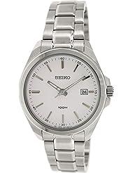 Seiko Herren-Armbanduhr Quartz Analog Quarz Edelstahl SUR057P1
