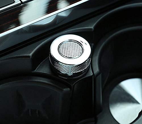 ABS-Chrom-Kunststoff-Getränkehalter Zigarettenanzünder-Abdeckungs-Zierzubehör Matt-Silber für Range Rover Sport Vogue SV 2009-2017 EINWEG Range Rover Vogue